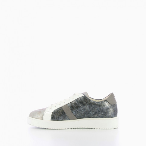 Grey platform trainers