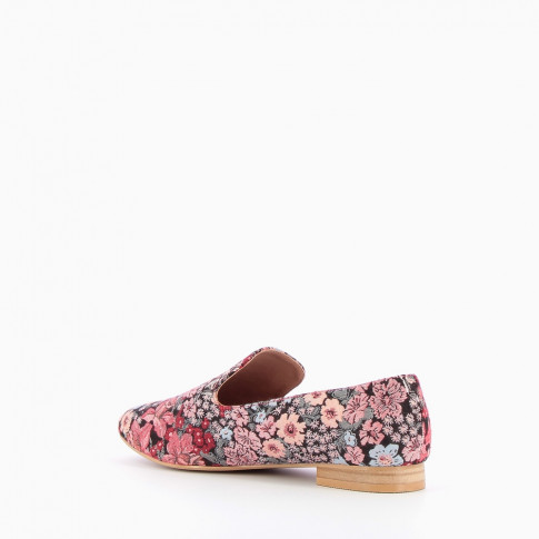 Pink flowery loafers