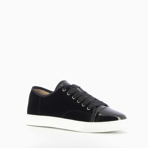 Black velvet tennis shoes