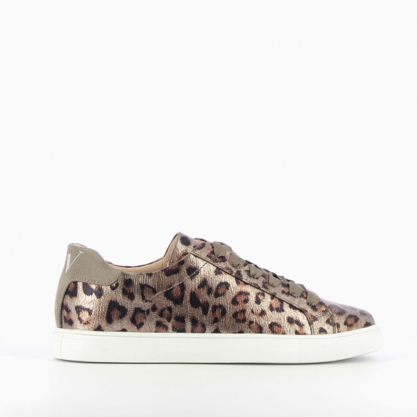 a1bee4937fd Bronze sneakers with leopard-print