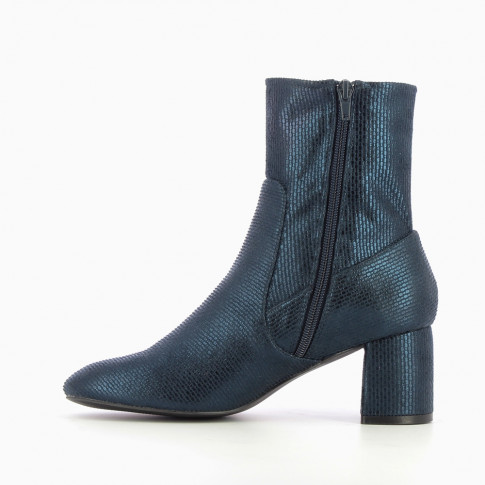Navy blue sock boots