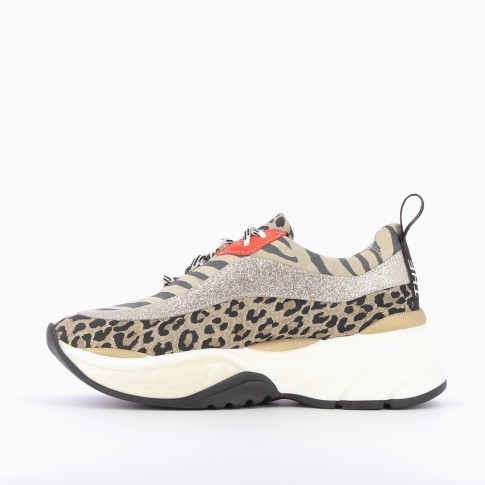 """The Only One"" zebra and leopard print sneakers"