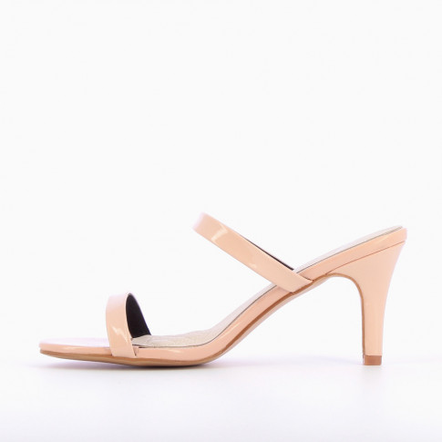 Pale pink mules with heel