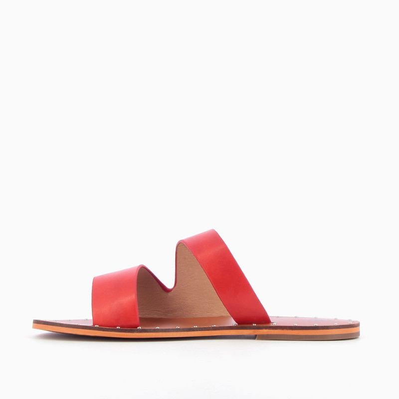 af32ae2bfecd Red asymmetrical mules - Vanessa Wu Store
