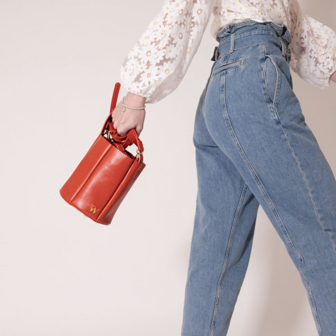 Terracotta bucket bag