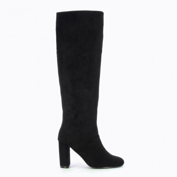 black boots in suedette stretch woman Vanessa Wu with heel