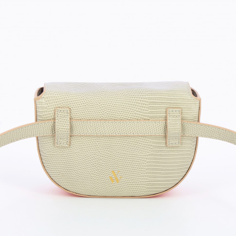 Beige belt bag